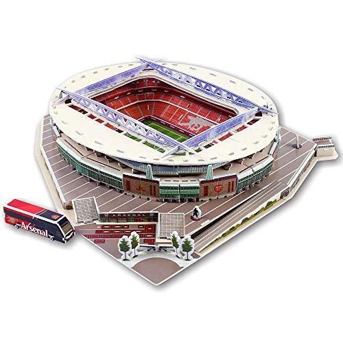 Auto parts 3D-Stadion-Puzzle, Emirates Stadium (uk), DIY-architekturmodellbausatz, Erkunden Sie Die Wahrzeichen Der Welt Mit 3D-Puzzles, Schaffen Sie Spaß Für Junge Menschen Und ältere Menschen, Bunt