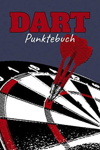 Punktebuch: Darts Spiel Buch für Dartspieler zum Zählen der Punkte I mit Out Chart und Raum für Notizen I Motiv: Dartscheibe rot weiß schwarz