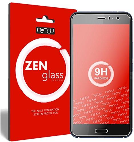 ZenGlass Flexible Glas-Folie kompatibel mit HTC U11 Panzerfolie I Display-Schutzfolie 9H I (Kleiner Als Das Gewölbte Display)