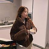 XYZMDJ Algodón Corduroy abrigo mujer 2020 invierno espesado cálido hip- hop chaqueta corta mujer de alta calidad de alta calidad Outwear mujer parkas (Color : B, Size : Large)