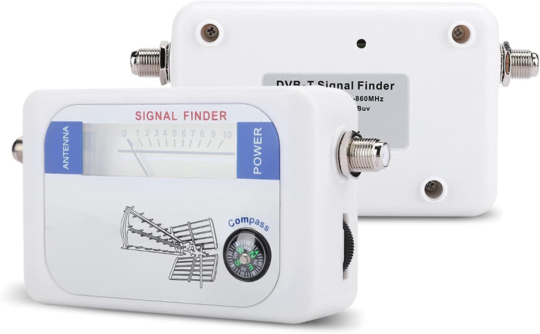 Bewinner1 Medidor Digital de Intensidad de señal del buscador satelital, buscador satelital Duradero con función de Control de atenuación para TV, televisión, Antena satelital remota