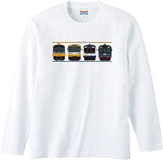 のと鉄道公認 Tシャツ 「横並び」 半袖 ホワイト
