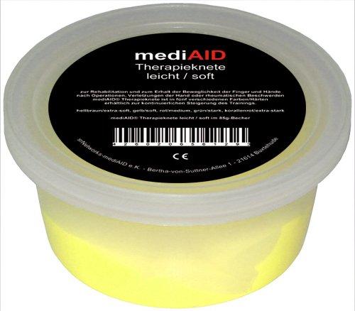 mediAID Therapie-Knete im 85g Becher (Gelb/leicht)