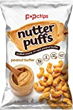 Popchips Nutter Puffs Peanut Butter 4 oz Bags (Pack of 5)