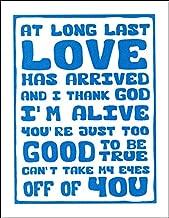Frankie Valli Inspired Typography Art Print Letterpress Poster,