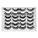 Pleell 6 Styles False Eyelashes Fluffy Long Lashes 3D Dramatic Soft Volume Fake Eye Lashes 12 Pack