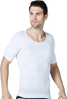 Mens Compression Shapewear Slim Seamless Short Sleeve Shirt
