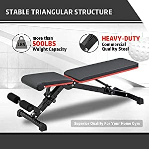 Adjustable Weight Bench Strength Training Workout Benche Multi-purpose Foldable Bench For Full Body Workout Home Gym