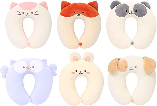 Coosy Anirollz Mochi Soft Squishy 12 Plush Neck Cushion Neck Pillow Travel Pillow 6 Characters Available Owlyroll