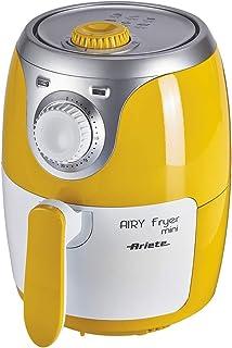 Ariete 4615 - Mini freidora saludable Airy, sin aceite, temporizador,1000 W, amarillo y blanco