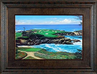 Ocean Challenge Larry Dyke Limited Edition 42x32 Gallery Quality Framed Art Print Golf Picture COA