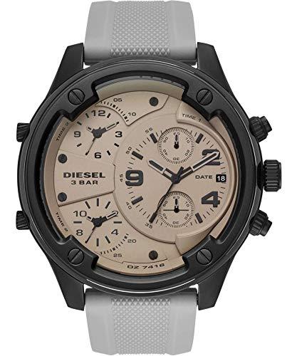 Diesel Herren Chronograph Quarz Uhr mit Silikon Armband DZ7416