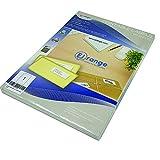 EJRange Nuevas etiquetas adhesivas para direcciones premium fáciles de despegar, 1 etiqueta por cada hoja A4, 100 hojas - 100 etiquetas en total