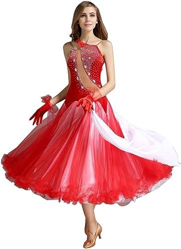 YTS Costume Moderne de Jupe de Danse, Grand Costume de Concurrence de Jupe d'oscillation de Dames Adultes