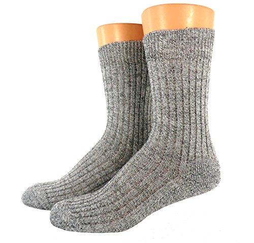 Shimasocks Norweger Socken Schafwolle ohne Gummi 3er Pack, Farben alle:graumeliert, Größe:43/46