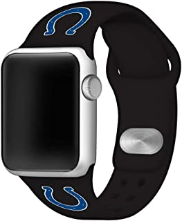 Game Time Indianapolis Colts Silicone Sport Band Compatible with Apple Watch - Band ONLY (42mm/44mm)