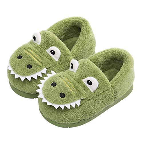 Zapatillas de Estar por Casa para Niñas Niños Invierno Zapatillas Interior Casa Caliente Zapatos Suave Algodón Antideslizantes Pantuflas