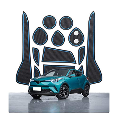 CDEFG para C-HR ZYX10 NGX50 Coche Accesorios Antideslizante Copa Mats Anti Slip Puerta Ranura de Acceso Kit de la Estera del cojín de la Ranura decoración de Interiores (Azul)