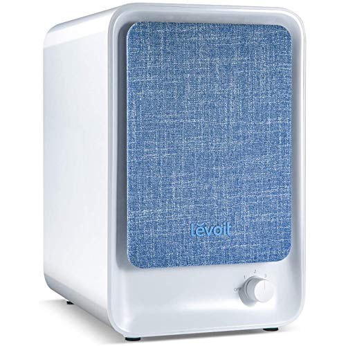 Levoit Air Purifiers for Home Bedroom with True HEPA Filter, 3-Stage Filtration, 100% Ozone Free, Portable Desktop Air Filter for Allergies, Pollen, Smoke, Dust, Pet, Odours, Quiet Operation, LV-H126