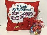 Cuscino Cuore Peluche con cioccolatini Regalo Lindor Idea San Valentino Innamorati (1)