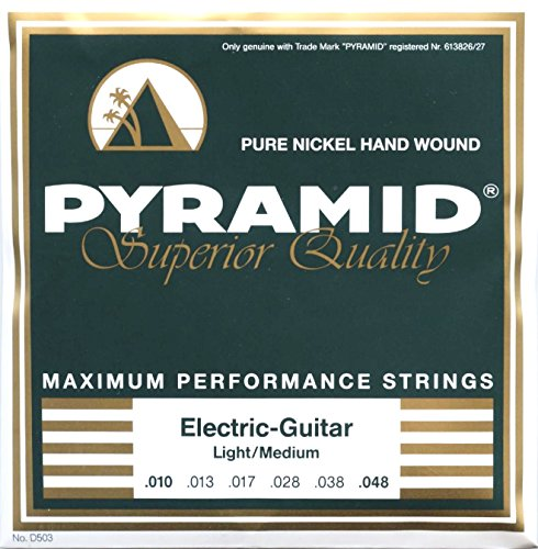 Pyramid Pure Nickel Hand Wound Electric Guitar Strings Light/Med 10-48