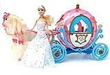 Brigamo 601841 - Elektrische Märchen Prinzessin Kutsche in Kürbisform mit Sound, Beleuchtung und Elektrischem Pferd ✨ -