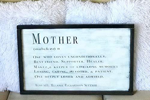 463Opher Gewaardeerde moedertekens aangepast moederbord Moederdag geschenk gepersonaliseerd geschenk aangepaste familie decor ingelijst houten teken aangepaste houten tekens 20cm*30cm