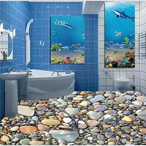Zybnb Baño Personalizado Centro Comercial Corredor Hd Adoquinado 3D Auto-Adhesivo Mural De Papel Tapiz-400X280Cm