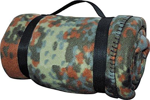 Kuschlige Flauschige Army Style Picknick Decke Outdoordecke Schlafdecke Unterlage (BW-Flecktarn)