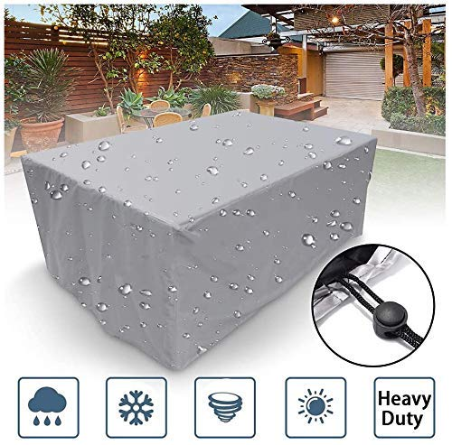 ZJZ Cubiertas para Muebles de jardín Protector de Silla de Mesa para Exteriores Resistente al Agua Sofá seccional de jardín Resistente 120x60x90cm / 47x23x35 Pulgadas,