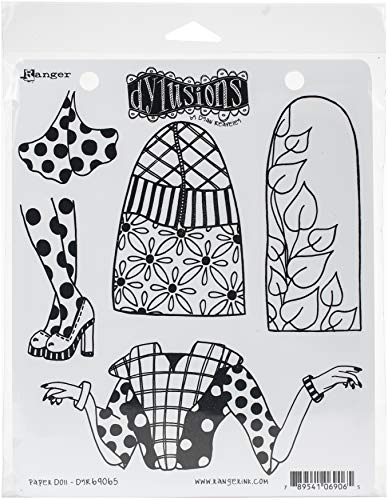 Dylusions Cling Paper Doll