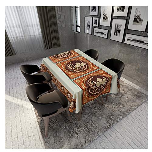 qazwsx Eid Ramadan decorations table cloth-Tablecloth Religious Ramadan-Decorations for Home Eid Al Adha Aid Ramadan Decor, 140 x 140 cm Ramadan (Color : 10, Size : 140X200CM)