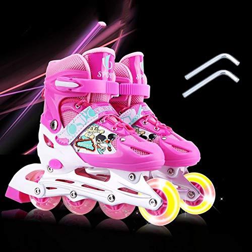 HealHeatersR Verstelbare Inline Skates voor Kinderen Volwassenen Rolschaatsen met Verlichtende Voorwielen voor Perfect Verjaardagscadeau
