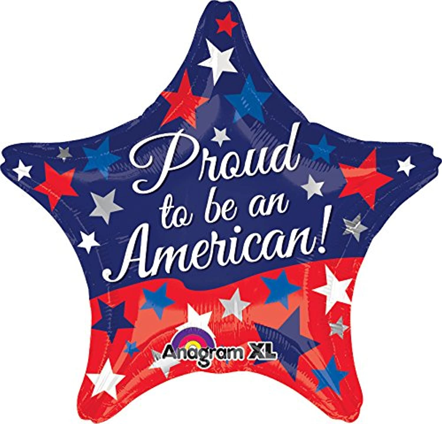 Anagram International Hx Proud to Be American Balloon, Multicolor