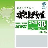 【ケース販売】 ポリハイ ごみ袋 30L 0.03 透明 (LP-30N) 20枚入×30冊