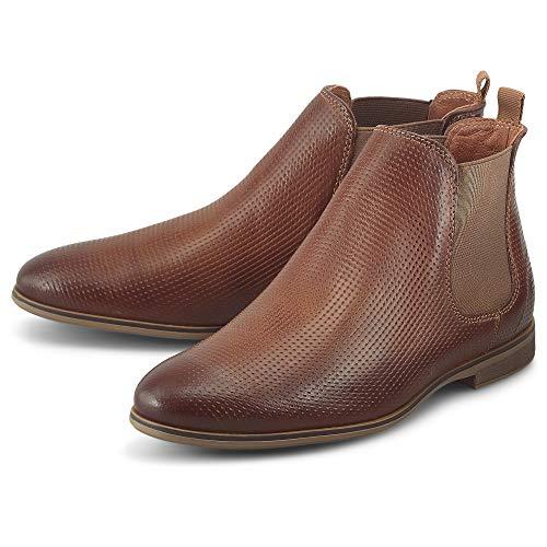 DRIEVHOLT Damen Chelsea-Boots Braun Glattleder 38