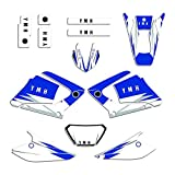Adhesivo de Motocross Modificado para Yamaha DT X 125 Decal Sticker Sticker Kit Motorcycle Team Graphic & Foys Decals DTX125 2004 2005 2006 2007 (Color : Blank)