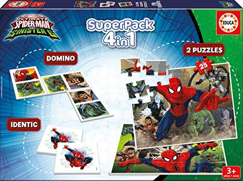 Educa - Superpack juegos Spiderman vs Sinister 6, contiene 2
