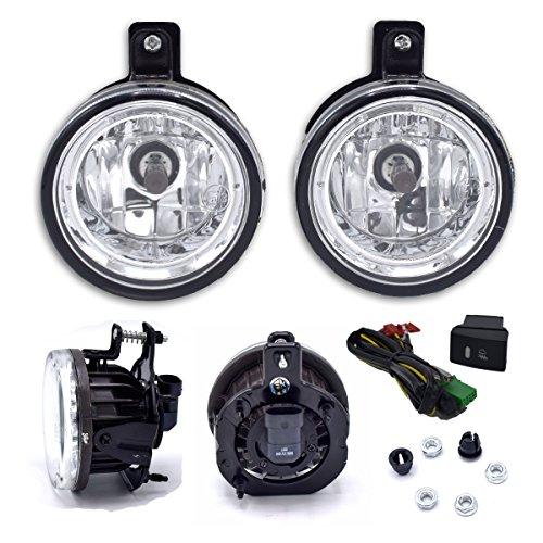 Powerwarauto Front Spot Light Fog Lamp Set Kits Clear Lens For Isuzu D-Max D Max Holden UTE 2006 2007 2008 2009 2010 2011