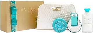 Bvlgari Omnia Paraiba for Women 4 Piece Set Includes: 2.2 oz Eau de Toilette Spray +2.5 oz Lotion + 2.6 oz Scented Soap + Beauty Pouch