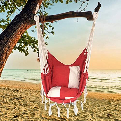 chinejaper hangstoel 2 kussens, XXL hangstoel voor volwassenen en kinderen, belastbaar tot 150 kg, hangstoel voor woon- en kinderkamer