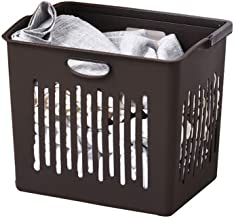 JUAN Storage Bin Simple Household Clothes Finishing Plastic Storage Basket (Color : Brown)