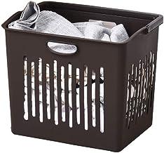 JUAN Storage Bin Simple Household Clothes Finishing Plastic Storage Basket (Color : Brown)