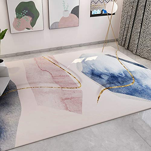 Michance European Non-Slip Absorbent Sofa Coffee Table Carpet Geometric Abstract Rectangular Floor Mat Bedroom Living Room Hotel Party Holiday Carpet