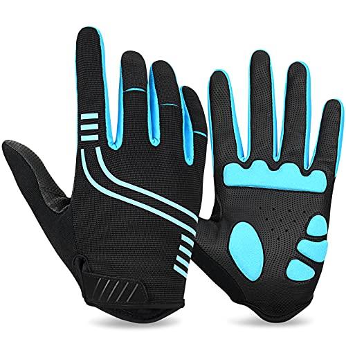 Yobenki Fahrradhandschuhe Vollfinger für Herren Damen,MTB Handschuhe atmungsaktives SBR Gepolstert Stoßdämpfende Touchscreen Handschuhe für Radsport Road Race Downhill