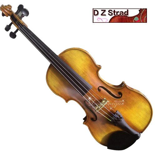 D Z Strad Model 4/4 Full Size 709 Violin Handmade by Prize Winning Luthiers with Bam Case, Bow, Shoulder Rest and...