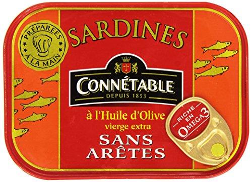 Connétables Sardines à l'huile d'olive vierge extra sans arêtes 115 g