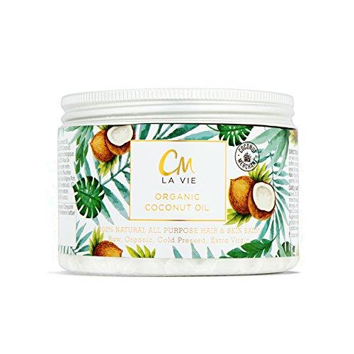 Aceite de Coco orgánico para Cabello y Piel 300ml CM La Vie | Aceite Orgánico, no-GMO, producido de forma ética | Tratamientos de belleza e Hidratante para cabello y piel - 300ml