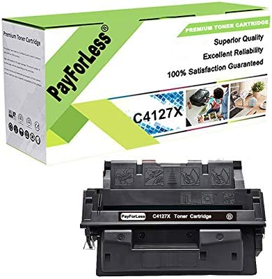 PayForLess Toner Cartridge 27X C4127X Black 1PK Compatible for HP Laserjet 4000 4000N 4000SE product image