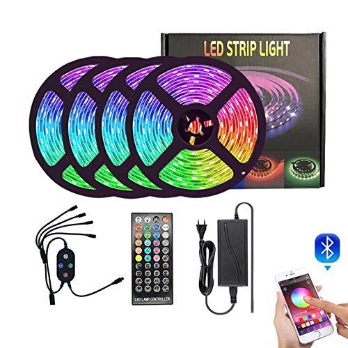 LED Striscia RGB 5050,Duractron led striscia 150 led per Natale,Feste, Decorazioni.(Non Impermeabile) -3 rotoli da 30 metri 540 luci senza bordo